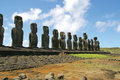 Ahu Tongariki, Easter Island Stock Images