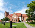 Ahus church panorama 01 Royalty Free Stock Photo