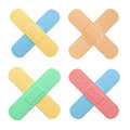 Aid Band Plaster Strip Medical Patch Color Cross Set. Vector Royalty Free Stock Photo