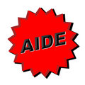 Aide Sign Royalty Free Stock Photos