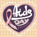 Aids day concept background, hand drawn style
