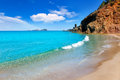 Aiguas Blanques Agua blanca Ibiza beach Royalty Free Stock Photography