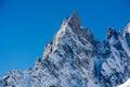 Aiguille noire de peuterey m a s l mont blanc northern italy Stock Image