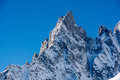 Aiguille noire de peuterey m a s l mont blanc northern italy Royalty Free Stock Photo