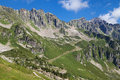 Aiguilles rouges national nature reserve in the french alps Royalty Free Stock Photography