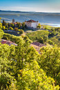 Aiguines, Chateau And Sainte Croix Lake-France Royalty Free Stock Photo