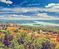 Aiguines Village by Lac de Sainte Croix Lake. Royalty Free Stock Photo