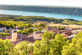 Aiguines Village And Sainte Croix Lake-France Royalty Free Stock Photo