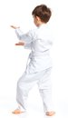 Aikido boy fighting position Stock Photos