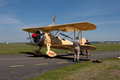 Aile marchant boeing stearman e Photo stock