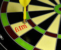 Aim hit right on target Royalty Free Stock Photo