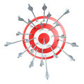 Aim, target, arrows Royalty Free Stock Photos