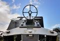 Aim the target from a heavy machine gun Stock Photo