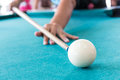 Aim to the cue ball Royalty Free Stock Images