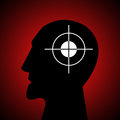 Aiming at the head Royalty Free Stock Photo