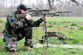 Aiming Rifle Royalty Free Stock Photo