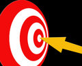 Aiming target Royalty Free Stock Images