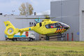 Air ambulance a dutch anwb hovers before takeoff to an emergency response Royalty Free Stock Photography