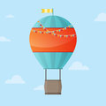 Air balloon background vector illustration of in the sky with copy space preferably for birthday card Stock Photography