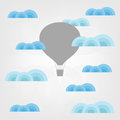 Air balloon in the clouds illustration of Stock Photo
