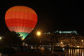 Air balloon in the evening sky Stock Photography