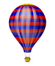 Air balloon isolated white Stock Images