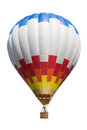Air balloon on white hot isolated backdround Royalty Free Stock Photos