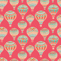 Air balloons candy pink seamless pattern