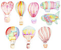 Air balloons collection Royalty Free Stock Photo