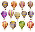 Air balloons isolated white Stock Photos