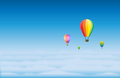 Air Balloons in the Sky Stock Image