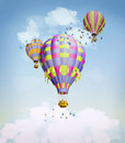 Air balloons sky illustration Royalty Free Stock Photography