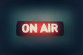 On air broadcast message background with vintage style Stock Images