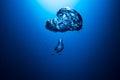 Air Bubble undersea Royalty Free Stock Photo