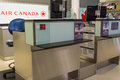 Air canada counter toronto august pearson international airport one of largest and busiest airport in the world about planes take Royalty Free Stock Images