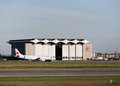 Air canada hanger halifax sept is s largest airline has scheduled charter and cargo service Stock Images