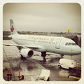 Air canada plane on the tarmac Stock Image