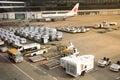 Air cargo unit load devices at Narita International Airport Royalty Free Stock Photo