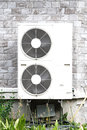 Air condition double compressor out door Stock Photography