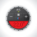 Air conditioning gauge with red display large Stock Images