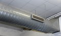 Air conditioning and heating with stainless steel tubing in a wo great workshop Stock Photo