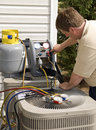 Air Conditioning Repairman Royalty Free Stock Photo