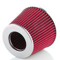 Air cone filter on white background vehicle modification accessories Royalty Free Stock Photo
