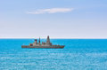 Air-defence Destroyer in the Sea Royalty Free Stock Photo