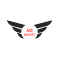 Air delivery logo with black wings