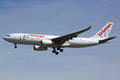 Air Europa Airbus A330-200 airplane Madrid airport Royalty Free Stock Photo