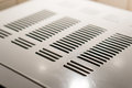 Air exhaust on metal plate Royalty Free Stock Images