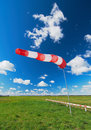 Air field direction sign and a wind force Stock Image
