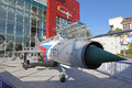 Air fighter mig slovak in front of shopping centre Royalty Free Stock Image
