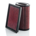 Air filters on white background vehicle modification accessories Royalty Free Stock Photo